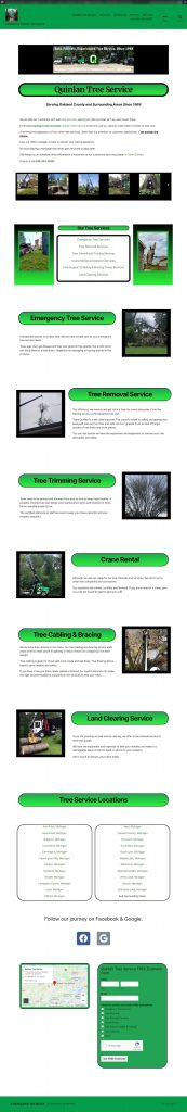 Website design for tree service companies
