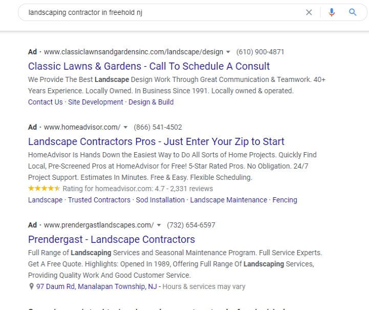 Bad ad examples from Google Ads