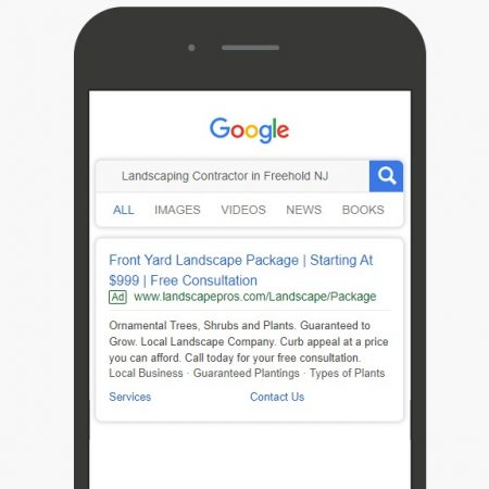 Google Ads and Local service ads services for landscaping companies