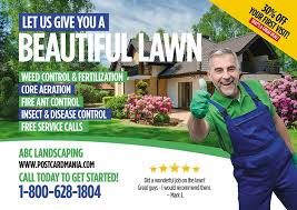 Flyer and Postcard marketing services for landscapers