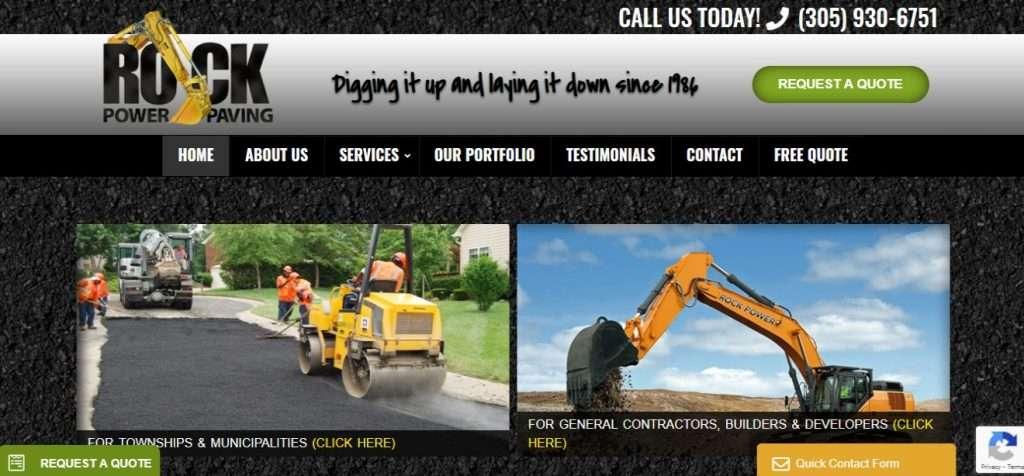 Excavation company and contractor web designer
